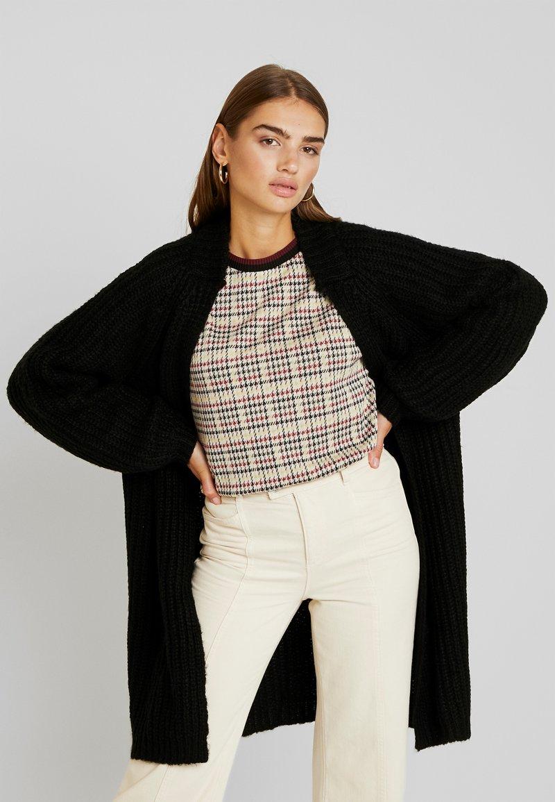 Vero Moda - VMPOCA OPEN COATIGAN - Cardigan - black