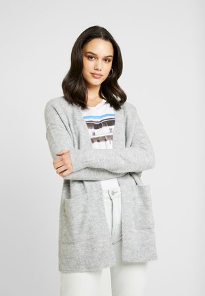 VMLUCI OPEN CARDIGAN - Kofta - light grey melange