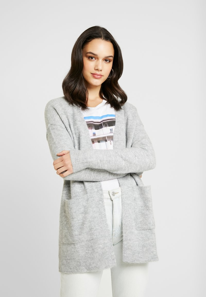 Vero Moda - VMLUCI OPEN CARDIGAN - Kofta - light grey melange