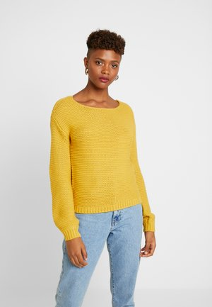 VMNO NAME BOATNECK NO EDGE  - Neule - amber gold