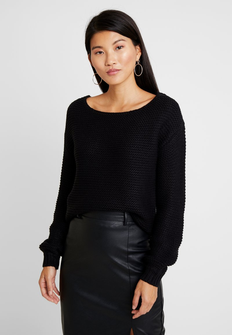 Vero Moda - VMNO NAME BOATNECK NO EDGE  - Strikkegenser - black