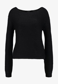 Vero Moda - VMNO NAME BOATNECK NO EDGE  - Strikkegenser - black - 3