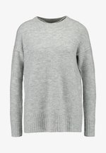 VMLUCI O-NECK LONG - Sweter - light grey melange