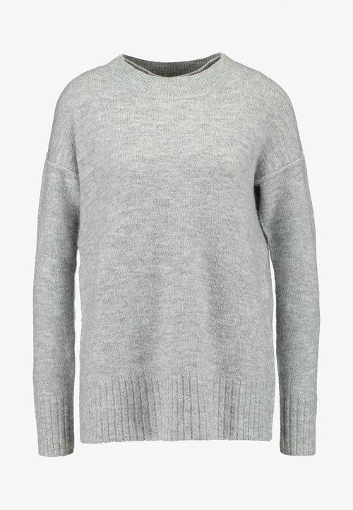 dobra jakość Vero Moda VMLUCI O-NECK LONG - Sweter - light grey melange Odzież Damska LXHS-DN1