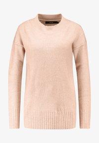 Vero Moda - VMLUCI O-NECK LONG - Sweter - misty rose - 4