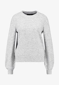 Vero Moda - VMABBIA O-NECK SOLID - Maglione - light grey melange - 4