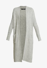 Vero Moda - VMCORA LONG OPEN CARDIGAN - Kardigan - light grey melange