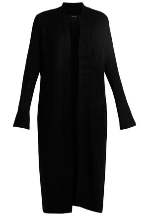VMCORA LONG OPEN CARDIGAN - Gilet - black
