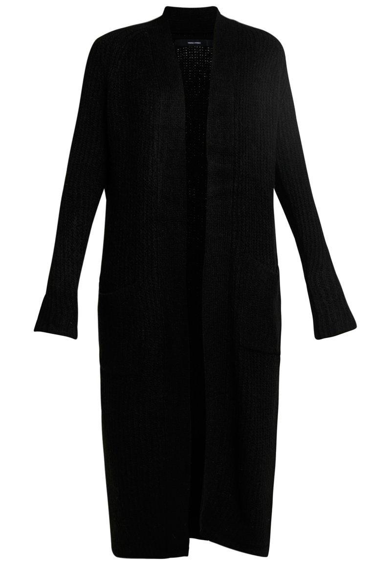 Vero Moda - VMCORA LONG OPEN CARDIGAN - Cardigan - black