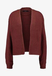 Vero Moda - VMNO NAME NO EDGE CARDIGAN - Kofta - madder brown - 4