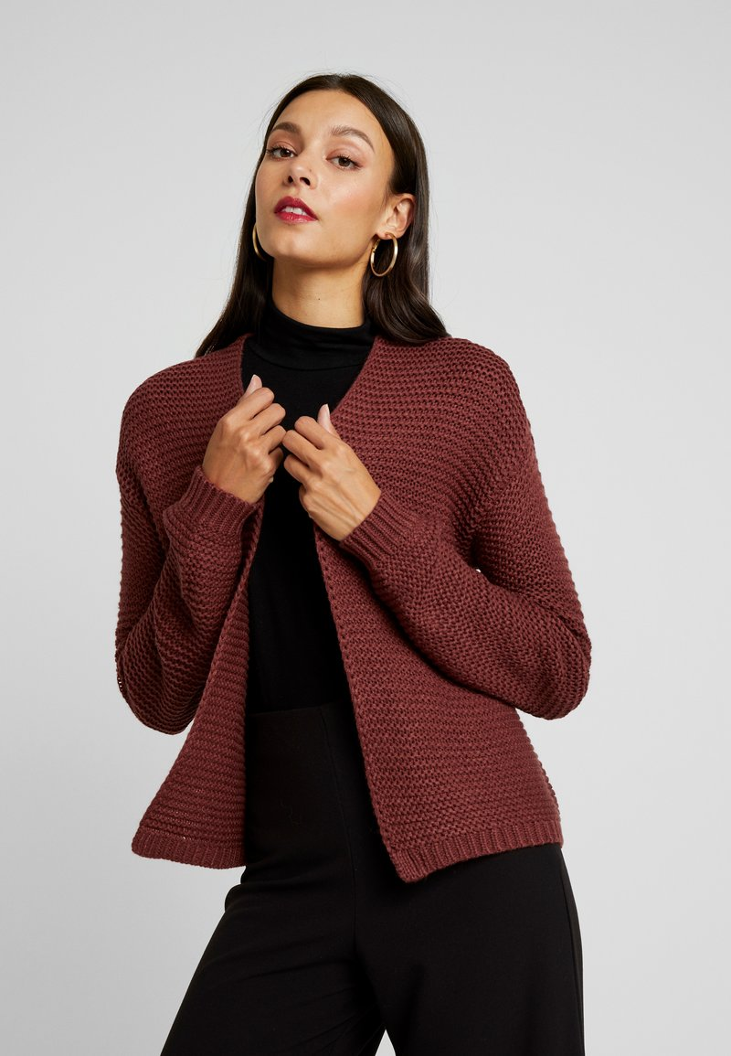 Vero Moda - VMNO NAME NO EDGE CARDIGAN - Kofta - madder brown