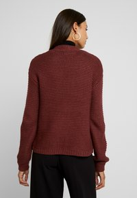 Vero Moda - VMNO NAME NO EDGE CARDIGAN - Kofta - madder brown - 2