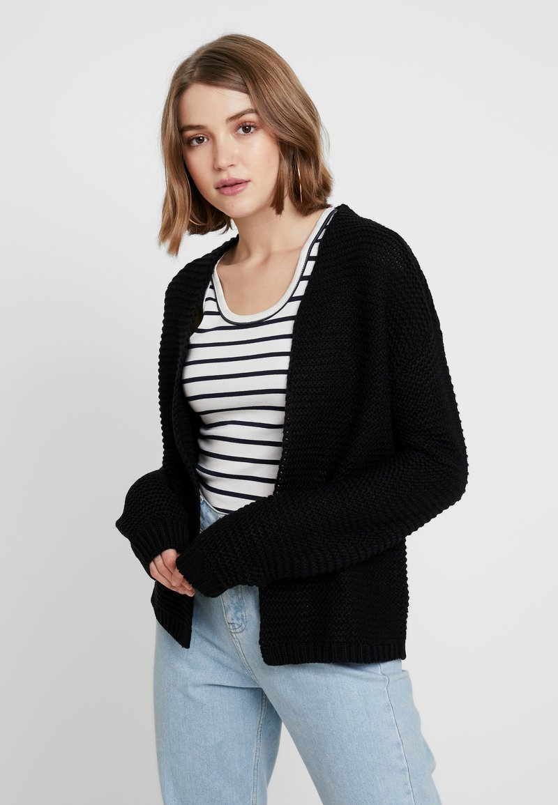 Vero Moda - NAME NO EDGE - Strickjacke - black