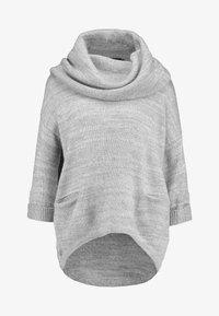 Vero Moda - VMFRANCIE COPENHAGEN COWLNECK - Stickad tröja - light grey - 4