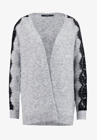 light grey melange/black