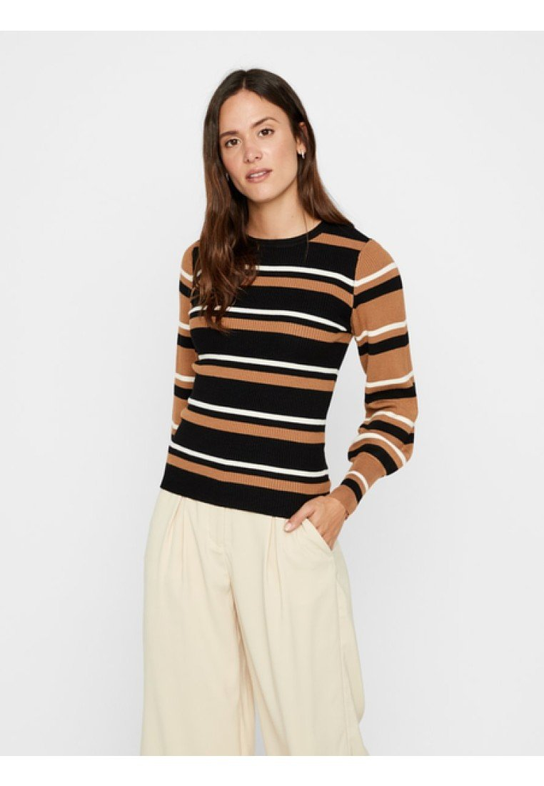 Vero Moda - Strickpullover - tobacco brown