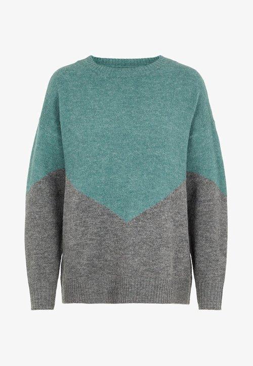 ekonomiczny Vero Moda COLOURBLOCKING - Sweter - atlantic Odzież Damska XUMK-WM4