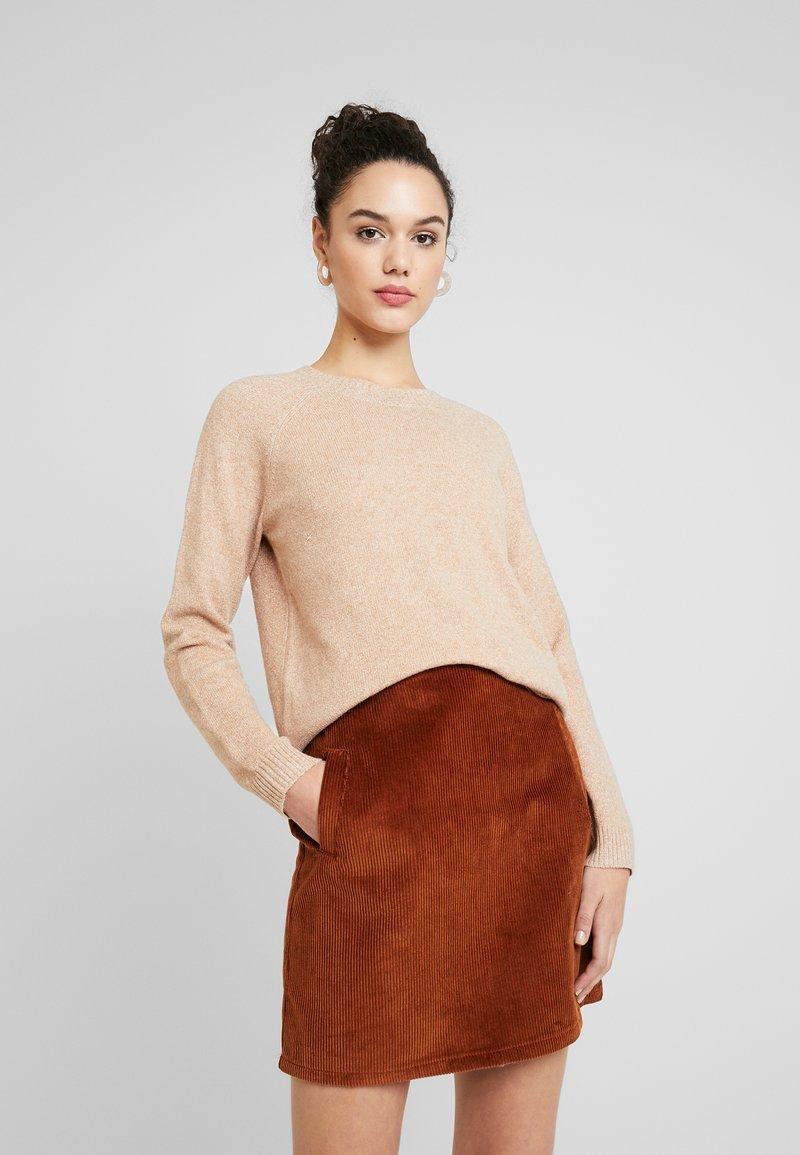 Vero Moda - VMDOFFY ONECK - Pullover - tobacco brown melange