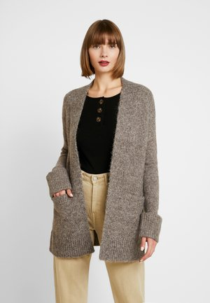 VMBERKO OPEN CARDIGAN - Kofta - shopping bag melange