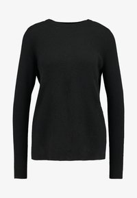 Vero Moda - VMDOUCE FRENCH O-NECK - Strikkegenser - black - 3