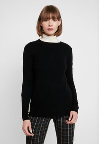 Vero Moda - VMDOUCE FRENCH O-NECK - Strikkegenser - black - 0