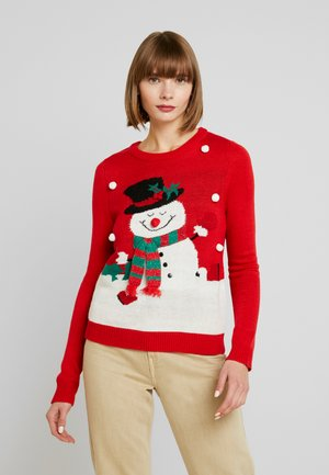 VMSNOWMAN - Sweter - chinese red