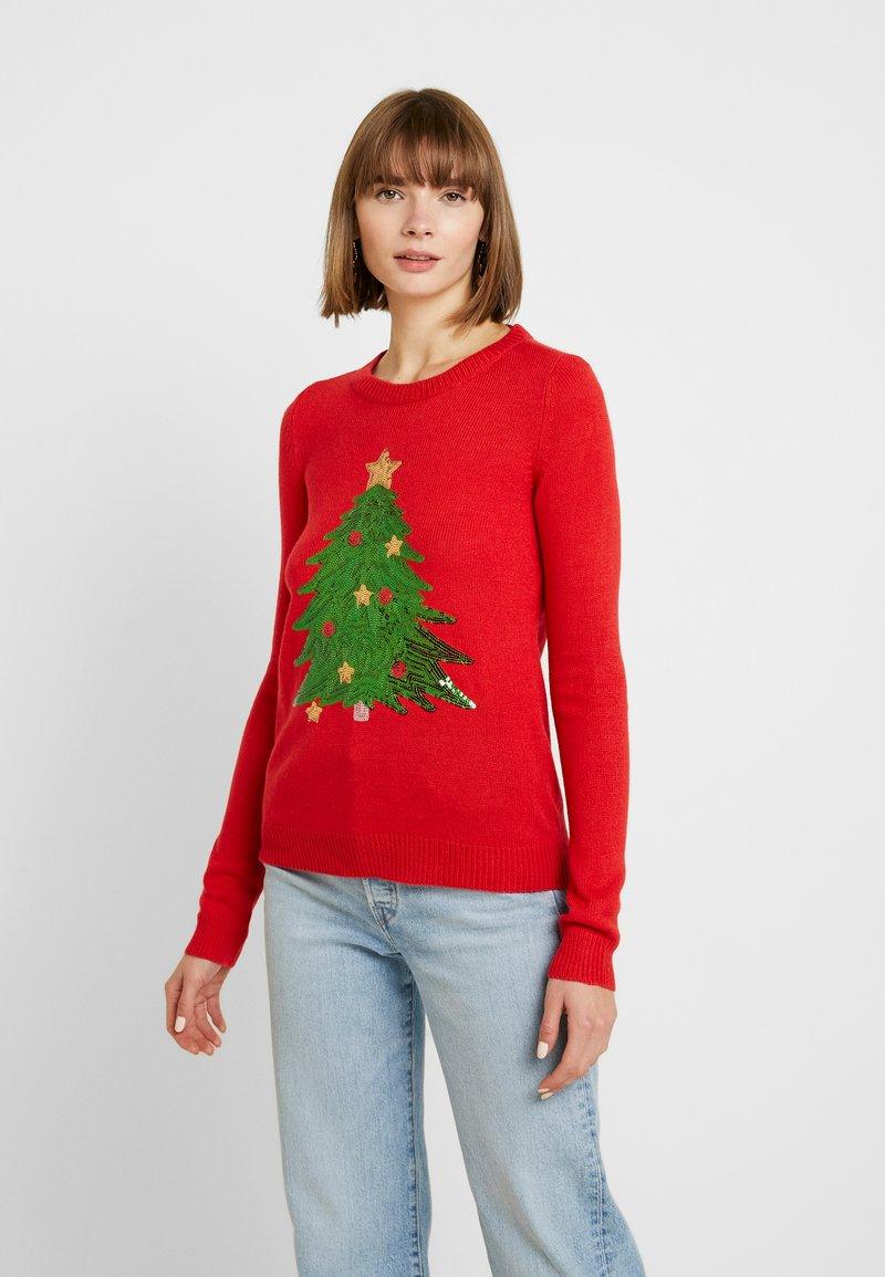 Vero Moda - VMSHINY CHRISTMAS TREE - Jumper - chinese red