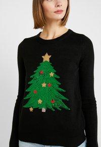 Vero Moda - VMSHINY CHRISTMAS TREE - Svetr - black - 4