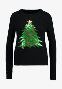 Vero Moda - VMSHINY CHRISTMAS TREE - Jumper - black