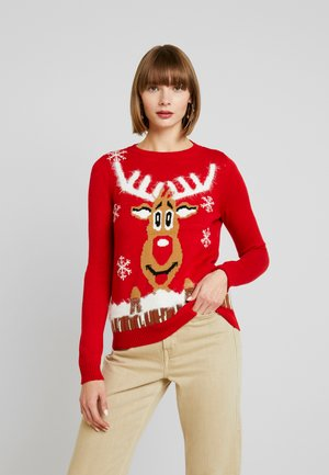 VMRUDOLPH O NECK XMAS - Jumper - chinese red