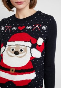 Vero Moda - SANTA - Strickpullover - night sky/chinese red/snow white - 4