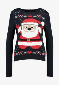 Vero Moda - SANTA - Strickpullover - night sky/chinese red/snow white - 3