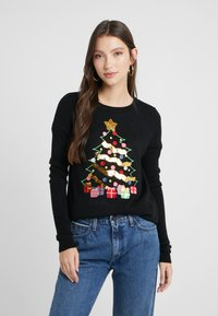 Vero Moda - VMCHRISTMASTREE O-NECK - Jumper - black/green/red/misty rose/gold - 0
