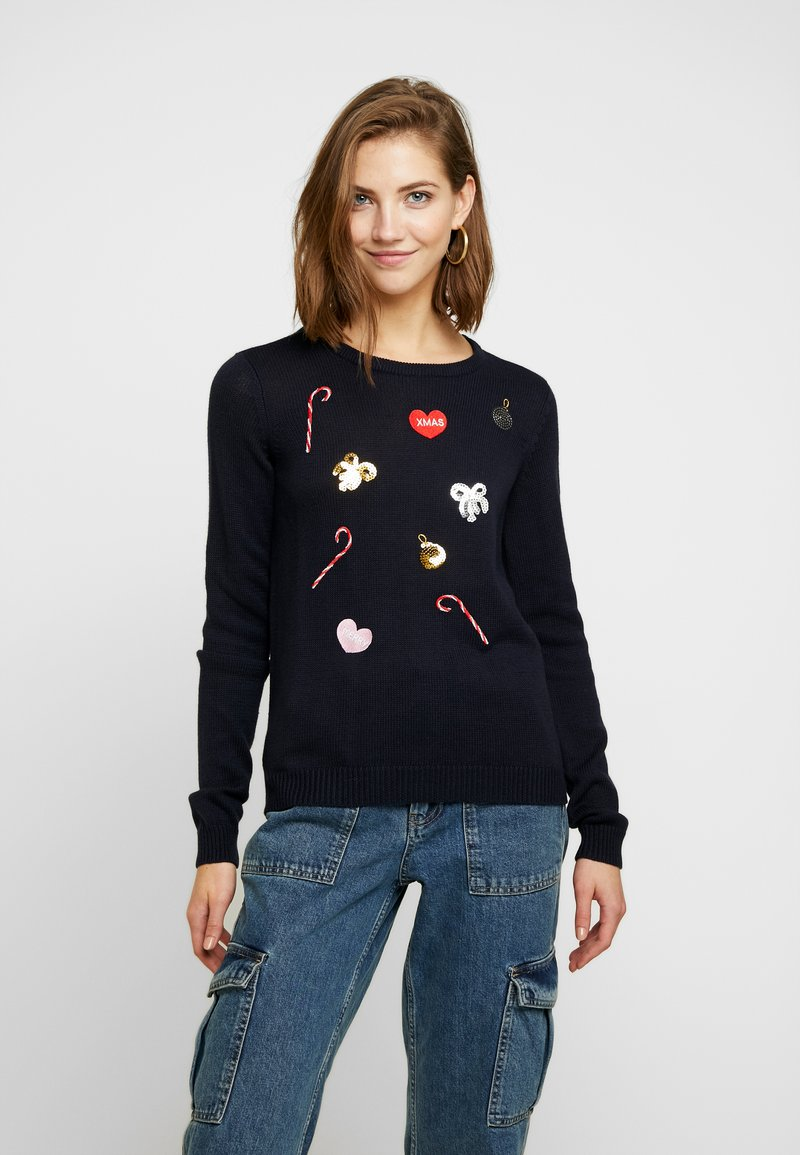 Vero Moda - VMCHRISTMASPATCH - Jumper - night sky