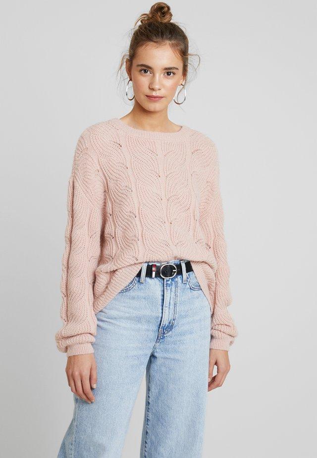 VMSTYLISH  - Stickad tröja - sepia rose