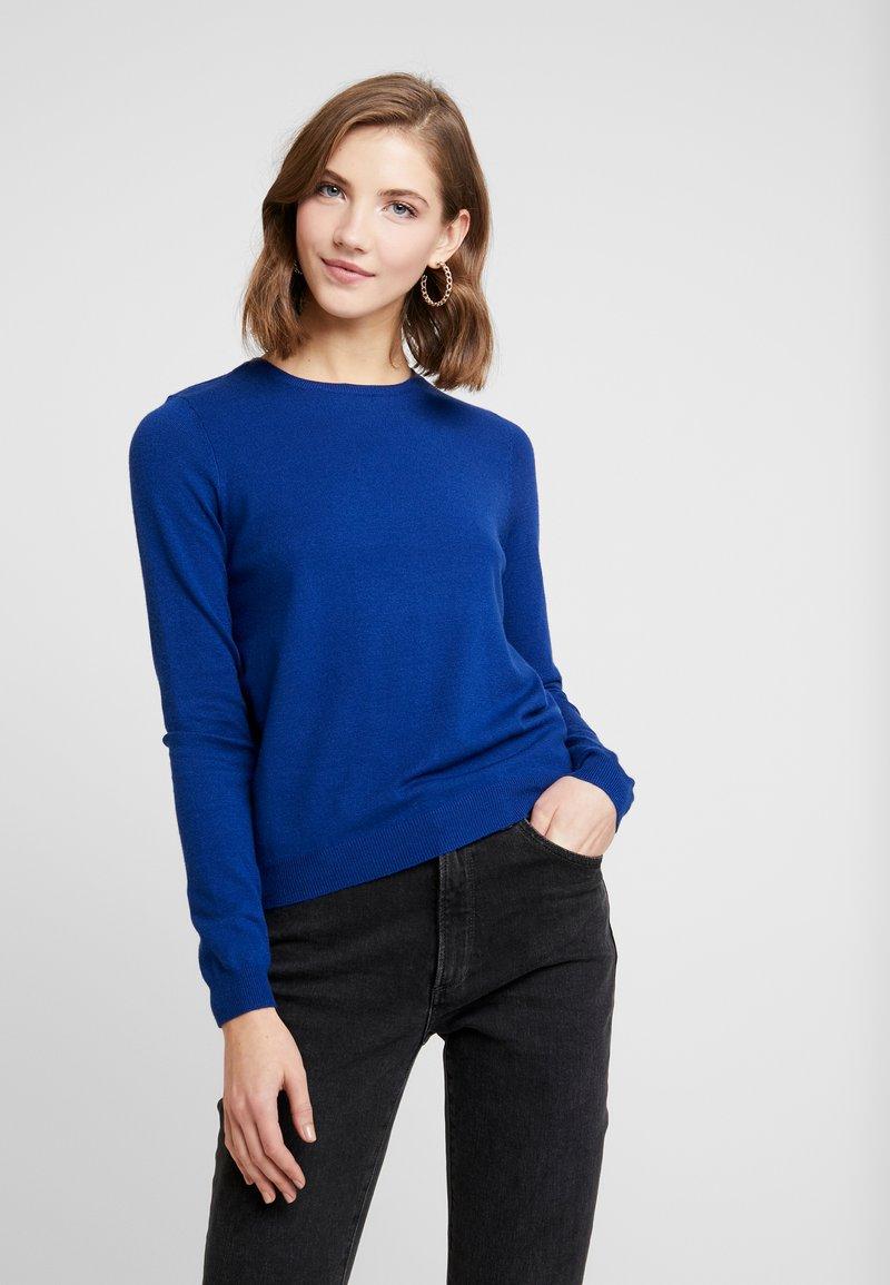 Vero Moda - VMHAPPY BASIC O-NECK - Maglione - sodalite blue