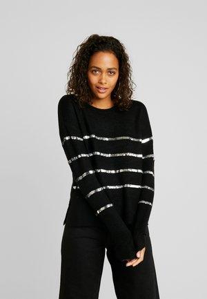 VMBRANASEQUINS O NECK - Stickad tröja - black/silver
