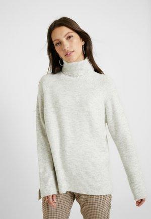 VMIVA ROLLNECK - Stickad tröja - light grey melange/snow melange