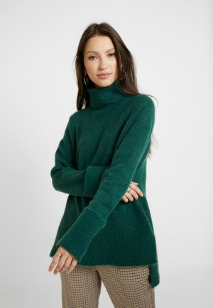 VMIVA ROLLNECK - Stickad tröja - hunter green/melange