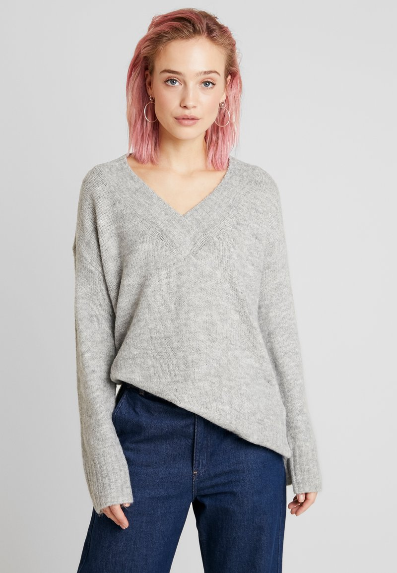 Vero Moda - VMKIZZI  - Trui - light grey melange