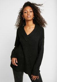 Vero Moda - VMKIZZI  - Jersey de punto - black - 0