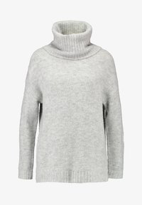 Vero Moda - VMKIZZI LONG COWLNECK - Jumper - light grey melange - 3