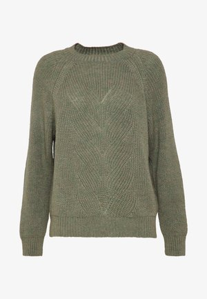 VMFLASH O-NECK - Jumper - ivy green melange