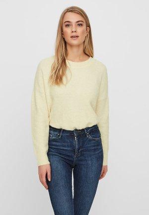RUNDHAL - Stickad tröja - yellow