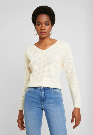 VMLEANNA V-NECK - Jumper - birch