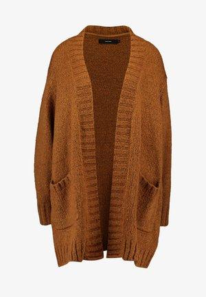 VMKAKA OPEN COATIGAN - Vest - tobacco brown/black