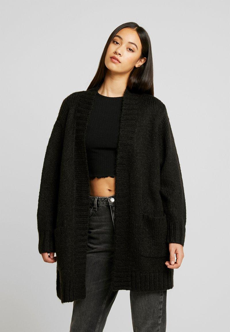 Vero Moda - VMKAKA OPEN COATIGAN - Cardigan - black