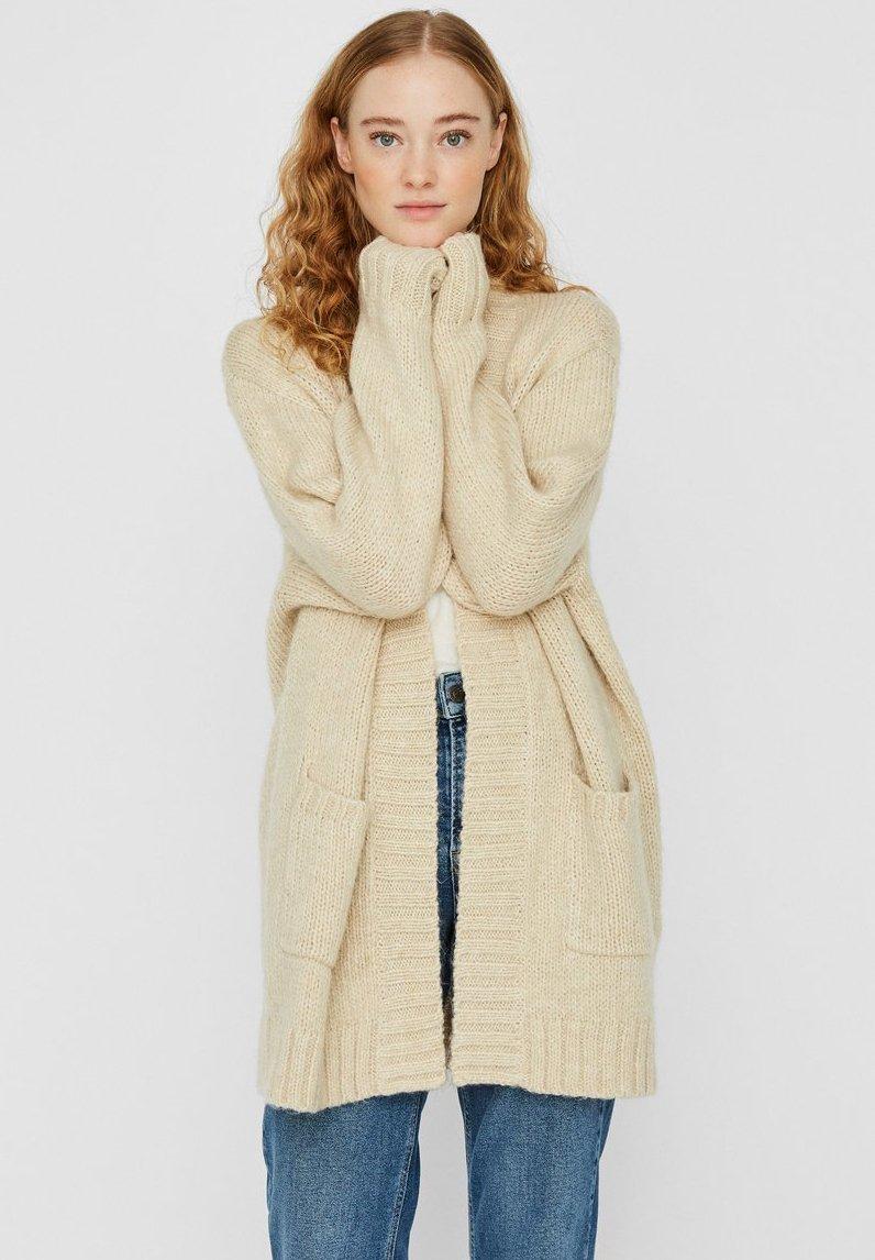 Vero Moda - VMKAKA OPEN COATIGAN - Cardigan - beige