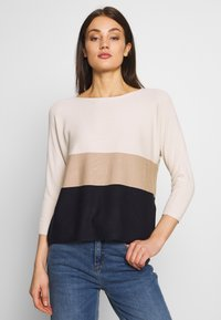 Vero Moda - VMNELLIE GLORY - Jumper - birch/night sky - 0