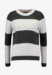 Vero Moda - VMPLEASENT O NECK - Jersey de punto - light grey melange/snow melange - 4